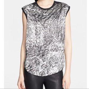 Helmut Lang resid print sleeveless top